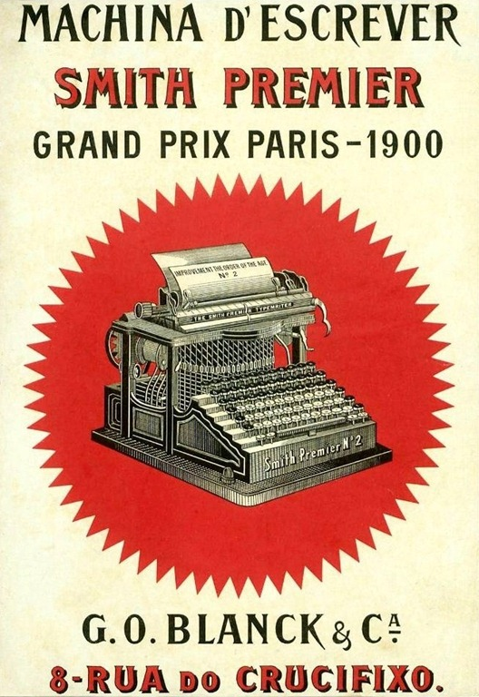 Publicidade a máquina de escrever Smith