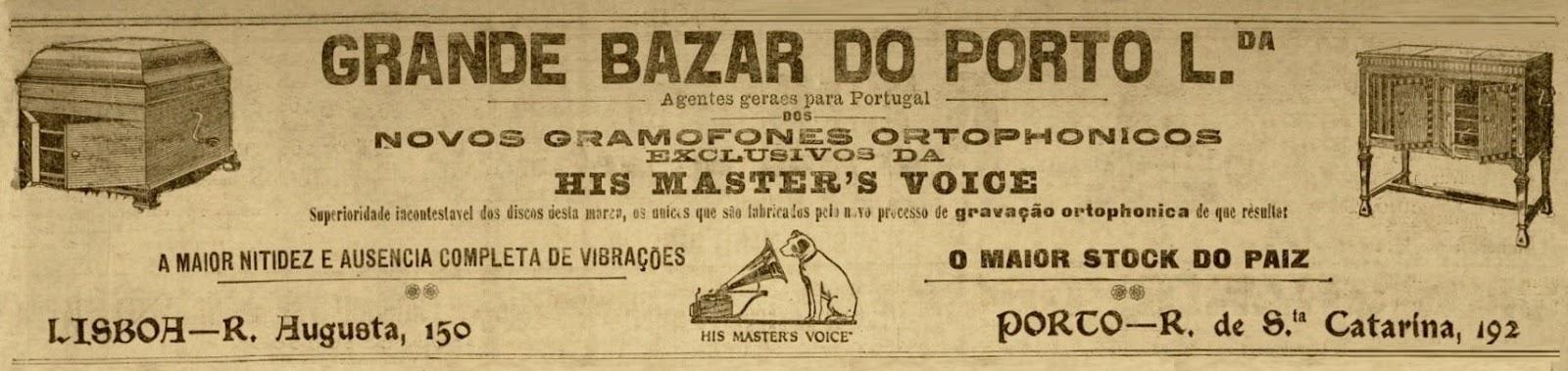 Publicidade Grande Bazar do Porto