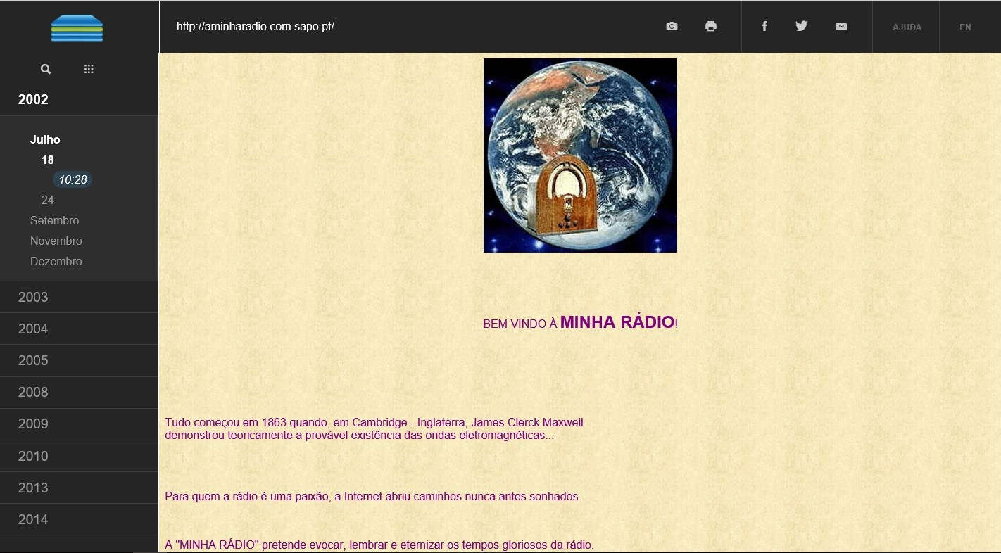 Primeiro template em 2002