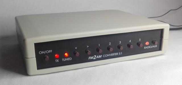 FM2AM - Conversor de FM para AM desenhado a pensar no radio antigo