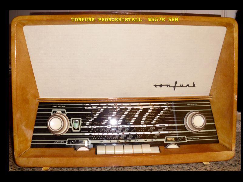 Rádio TONFUNK Phonokristall  W357E 58M