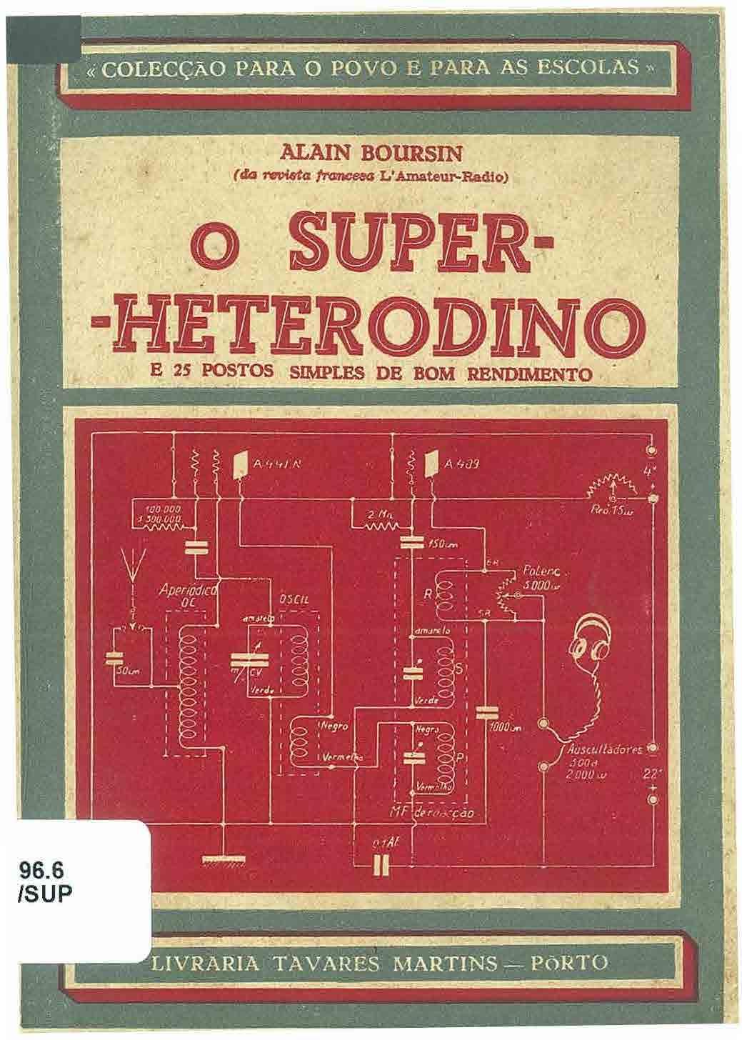 Capa do livro O Super heterodino...