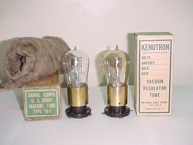 Kenotrons TB1 Clear glass and amber glass