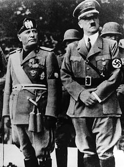 Foto de Hitler e Mussolini