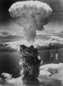 Foto da bomba em Nagasaki