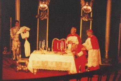 Representação teatral da Ceia dos Cardeais