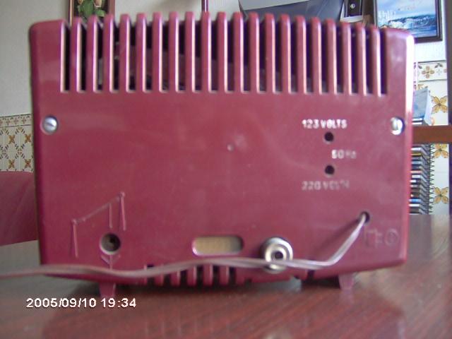 Radiola Type RA177A por trás