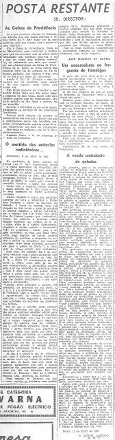Carta publicada no Jornal de Notícias