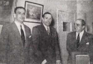 Na imagem, Manuel Bivar, António Eça de Queirós e Armando Stichini Vilela