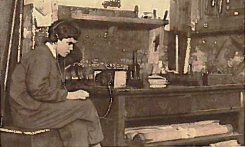 Mecânico Joaquim de Matos com a sua galena