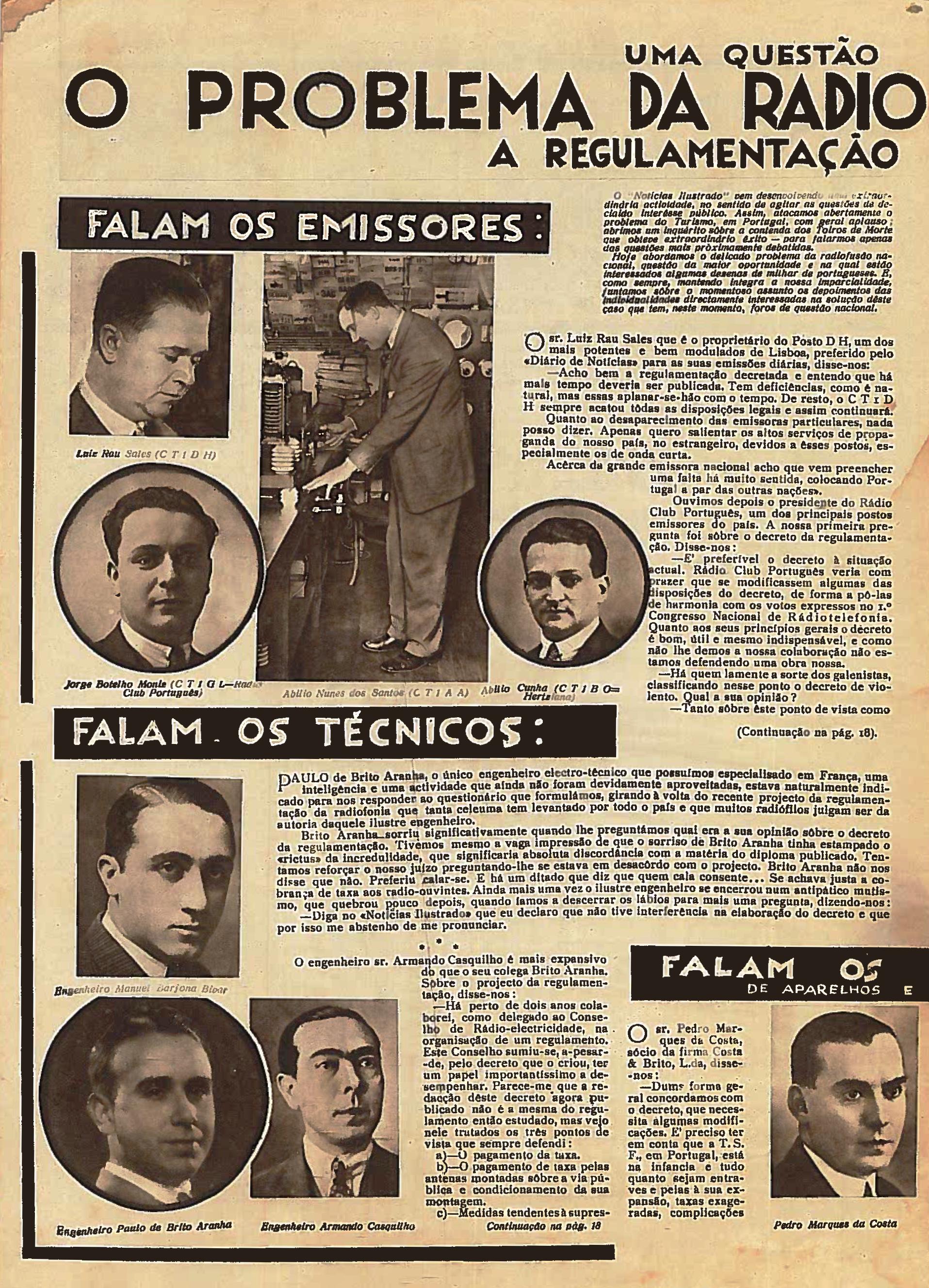 Foto do nº28 de maio de 1933 do Diário Ilustrado