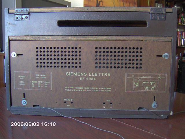 Siemens Elettra RF6954 visto por trás