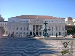 Imagem do teatro D. Maria II