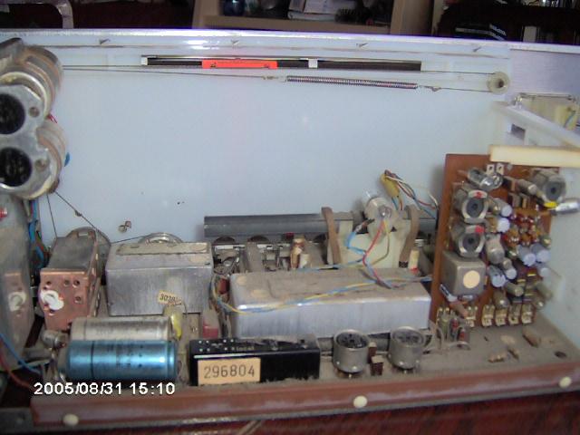 Telefunken Sonata chassis em pormenor