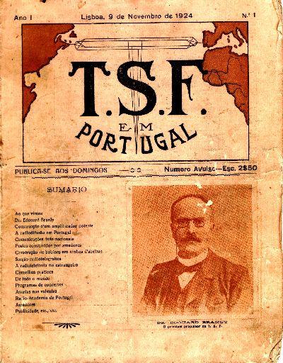Capa da revista TSF em Portugal