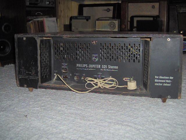 Philips Jupiter 521 Stereo B5D21A por trás