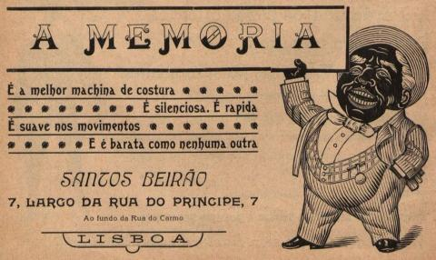 Publicidade Santos Beirão - máquina de costura