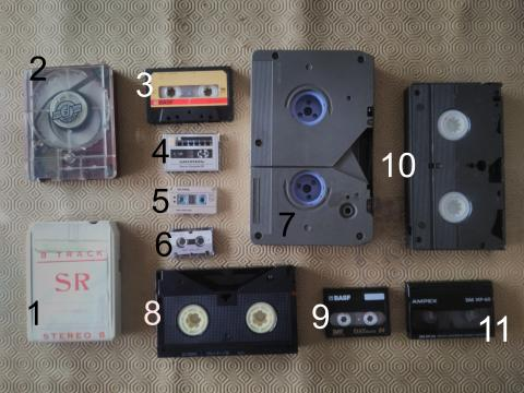 11 suportes diferentes de áudio analógico
