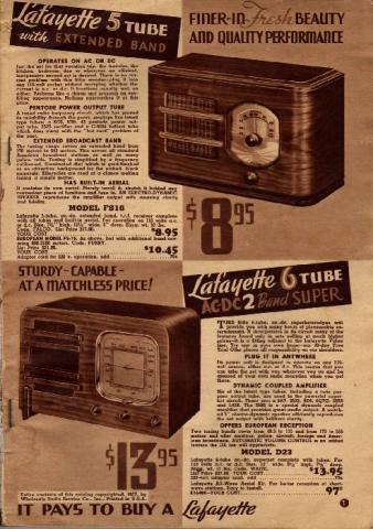 Lafayette Catalog nº69, pag 1
