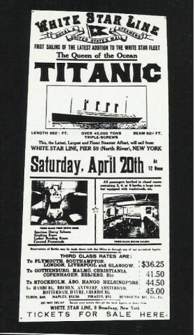 Cartaz do Titanic