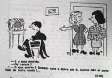Desenho representativo da rádio da época